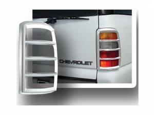 Chrome Trim - Tail Light Accents - QAA - GMC Yukon 2000-2006, 4-door, SUV (2 piece Chrome Plated ABS plastic Tail Light Bezels ) TL40198 QAA