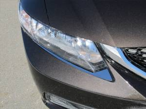 Chrome Trim - Headlight Accents - QAA - Honda Civic 2012-2015, 4-door, Sedan (2 piece Stainless Steel Head Light Accent Trim Adheres to the front bumper, underneath the headlight.) HL12214 QAA