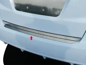 "Chrome Trim - Bumper Accents - QAA - Honda Fit 2009-2013, 4-door, Hatchback (1 piece Stainless Steel Rear Bumper Trim Accent 2.375"" Width ) RB29220 QAA"