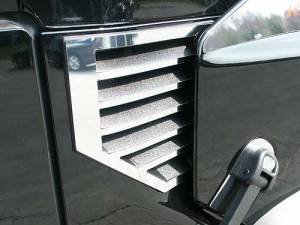 Chrome Trim - Vent Accents - QAA - Hummer H2 2003-2006, 4-door, SUV (2 piece Stainless Steel Cowl Vent Accent Trim No Antenna MUST NOT HAVE ANTENNA) HV43002 QAA