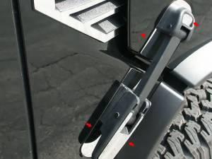 Chrome Trim - Hood Accents/Trim - QAA - Hummer H2 2003-2009, 4-door, SUV (8 piece Stainless Steel Hood Latch Base Accent Trim ) HV43004 QAA