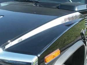 Chrome Trim - Hood Accents/Trim - QAA - Hummer H2 2003-2009, 4-door, SUV (2 piece Stainless Steel Hood Accent Trim ) HV43014 QAA