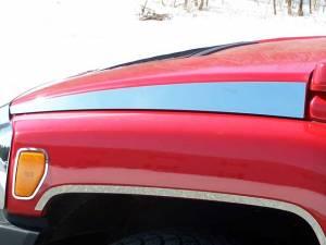 Chrome Trim - Hood Accents/Trim - QAA - Hummer H3 2006-2009, 4-door, SUV (2 piece Stainless Steel Hood Accent Trim ) HV46302 QAA