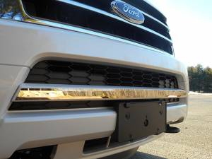 """Chrome Trim - Grille Accents - QAA - Ford Expedition 2015-2017, 4-door, SUV (1 piece Stainless Steel Front Grille Accent Trim 1.25"""" Width Not intended for the Limited model.) SG55383 QAA"""