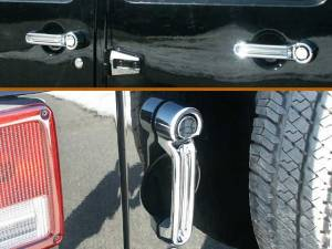 Chrome Trim - Tailgate Handle Cover - QAA - Jeep Wrangler JK 2007-2018, 4-door, SUV (10 piece Chrome Plated ABS plastic Door and Tailgate Handle Cover Package Includes the rear tailgate set ) DH47085 QAA