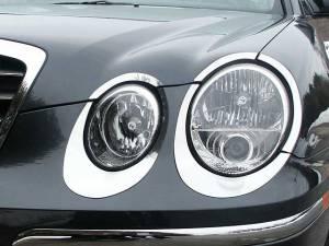 Chrome Trim - Headlight Accents - QAA - Kia Amanti 2004-2006, 4-door, Sedan (10 piece Stainless Steel Head Light Accent Trim ) HL24800 QAA