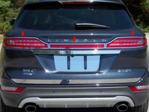 Chrome Trim - Tail Light Accents - QAA - Lincoln MKC 2015-2019, 4-door, Sedan (3 piece Stainless Steel Tail Light Ring Accent Trim ) TR55640 QAA