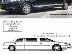 """QAA - Lincoln MKT 2010-2020, 5-door, Limousine, 120"""" Stretch (11 piece Stainless Steel Rocker Panel Trim, Upper Kit 2.81"""" - 3.37"""" tapered Width, 120"""" extension Spans from the bottom of the molding DOWN to the specified width.) TH50676 QAA"""