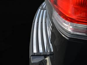 Chrome Trim - Bumper Accents - QAA - Lincoln Navigator 2015-2017, 4-door, SUV (4 piece Stainless Steel Rear Bumper Trim Accent Insert set ) BI55655 QAA
