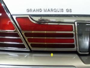 Chrome Trim - Tail Light Accents - QAA - Mercury Grand Marquis 2003-2011, 4-door, Sedan, GS (2 piece Stainless Steel Tail Light Accent Trim Set Extension Trim ) TL43481 QAA