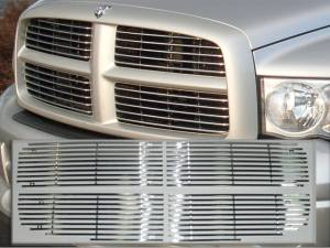 Chrome Trim - Grille Accents - QAA - Dodge Ram 2002-2005, 2-door, 4-door, Pickup Truck, 1500, 2500 (4 piece Billet Grille Overlay Bolt on Inserts ) SGB42931 QAA