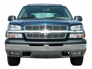 Chrome Trim - Grille Accents - QAA - Chevrolet Silverado 2003-2005, 2-door, 4-door, Pickup Truck (2 piece Billet Grille Overlay ) SGB43181 QAA