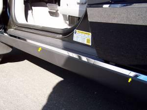 "Chrome Trim - Door Sill Trim - QAA - Saturn Vue 2003-2007, 4-door, SUV (4 piece Stainless Steel Door Sill - Rocker Trim 1.625"" Width ) ST43440 QAA"