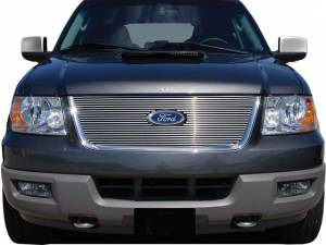 Chrome Trim - Grille Accents - QAA - Ford Expedition 2003-2006, 4-door, SUV (1 piece Billet Grille Overlay Upper only ) SGB43383 QAA