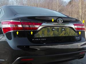 Chrome Trim - Tail Light Accents - QAA - Toyota Avalon 2013-2018, 4-door, Sedan (5 piece Stainless Steel Tail Light Ring Accent Trim ) TR13165 QAA