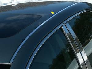 "Chrome Trim - Roof Accents - QAA - Toyota Camry 2012-2014, 4-door, Sedan (2 piece Stainless Steel Roof Insert Trim 0.5"" Width X 54.5"" Length ) RI12130 QAA"