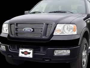 Chrome Trim - Grille Accents - QAA - Ford F-150 2004-2008, 2-door, 4-door, Pickup Truck, XL, STX, XLT, FX (6 piece Billet Grille Overlay Inserts ) SGB44309 QAA