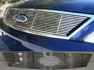 Chrome Trim - Grille Accents - QAA - Ford Five Hundred 2005-2007, 4-door, Sedan (1 piece Billet Grille Overlay ) SGB45490 QAA