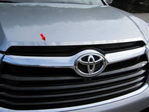 Chrome Trim - Hood Accents/Trim - QAA - Toyota Highlander 2014-2019, 4-door, SUV (1 piece Stainless Steel Hood Vent Trim ) HT14110 QAA