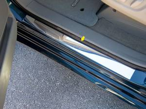 "Chrome Trim - Door Sill Trim - QAA - Toyota Sienna 2011-2020, 4-door, Minivan (2 piece Stainless Steel Door Sill trim 2"" Width, 20"" length ) DS11150 QAA"