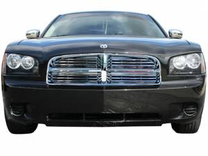 Chrome Trim - Grille Accents - QAA - Dodge Charger 2006-2010, 4-door, Sedan (4 piece Billet Grille Overlay ) SGB46911 QAA