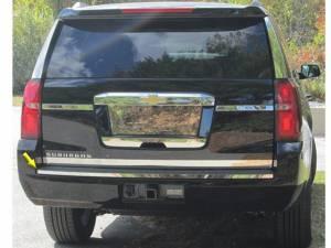 "Chrome Trim - Bumper Accents - QAA - Chevrolet Suburban 2015-2020, 4-door, SUV (1 piece Stainless Steel Rear Bumper Trim Accent 0.875"" Width Rear ) BI55195 QAA"
