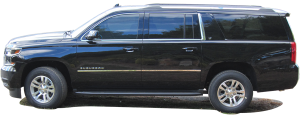 """QAA - Chevrolet Suburban 2015-2020, 4-door, SUV (4 piece Stainless Steel Wheel Well Accent Trim 1.5"""" Width With 3M adhesive installation and black rubber gasket edging.) WQ55198 QAA - Image 3"""
