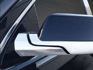 Chrome Trim - Mirror Covers/Accents - QAA - Chevrolet Suburban 2015-2020, 4-door, SUV (4 piece Chrome Plated ABS plastic Mirror Cover Set Bottom Half Only and Arm Cover ) MC55197 QAA