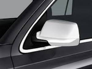 Chrome Trim - Mirror Covers/Accents - QAA - Chevrolet Tahoe 2015-2020, 4-door, SUV (2 piece Chrome Plated ABS plastic Mirror Cover Set Full ) MC55198 QAA