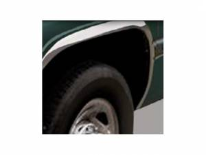 Dodge Ram 1994-2001, 2-door, 4-door, Pickup Truck, 1500, 2500 (4 piece Molded Stainless Steel Wheel Well Fender Trim Molding FULL LENGTH Clip on or screw in installation, Lock Tab and screws, hardware included.) WZ34921 QAA