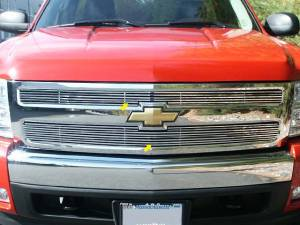 Chrome Trim - Grille Accents - QAA - Chevrolet Avalanche 2007-2009, 4-door, Pickup Truck (2 piece Billet Grille Overlay ) SGB47195 QAA