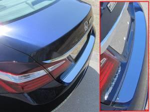 Chrome Trim - Bumper Accents - QAA - Honda Accord 2016-2017, 4-door, Sedan (1 piece Stainless Steel Rear Bumper Trim Accent ) RB16281 QAA