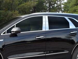 QAA - Cadillac XT5 2017-2020, 4-door, SUV (10 piece Stainless Steel Pillar Post Trim Includes two Front Pillars, front of the mirror ) PP57262 QAA