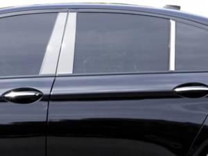 Chrome Trim - Pillar Trim - QAA - BMW 5 Series 2011-2016, 4-door, Sedan (6 piece Stainless Steel Pillar Post Trim ) PP11931 QAA