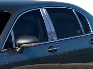 QAA - Bentley Continental Flying Spur 2006-2012, 4-door, Sedan (8 piece Stainless Steel Pillar Post Trim ) PP26999 QAA