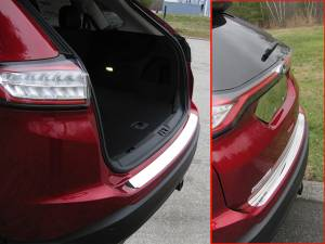 Chrome Trim - Bumper Accents - QAA - Ford Edge 2015-2018, 4-door, SUV (1 piece Stainless Steel Rear Bumper Trim Accent ) RB55610 QAA