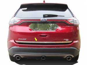 "Chrome Trim - Trunk Lid Accents - QAA - Ford Edge 2015-2018, 4-door, SUV (1 piece Stainless Steel Rear Deck Trim, Trunk Lid Accent 1.25"" Width ) RD55610 QAA"