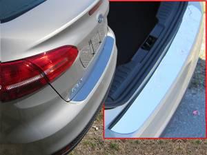 Chrome Trim - Bumper Accents - QAA - Ford Focus 2015-2018, 4-door, Sedan (1 piece Stainless Steel Rear Bumper Trim Accent ) RB55345 QAA