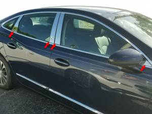 QAA - Buick LaCrosse 2017-2019, 4-door, Sedan (8 piece Stainless Steel Pillar Post Trim Includes front triangles ) PP57522 QAA