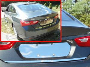 "Chrome Trim - Trunk Lid Accents - QAA - Chevrolet Malibu 2016-2020, 4-door, Sedan (1 piece Stainless Steel Rear Deck Trim, Trunk Lid Accent 0.75"" Width ) RD56105 QAA"