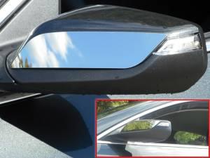 Chrome Trim - Mirror Covers/Accents - QAA - Chevrolet Malibu 2016-2020, 4-door, Sedan (2 piece Stainless Steel Mirror Accent Trim ) MA56105 QAA
