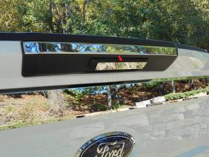 Chrome Trim - Tailgate Handle Cover - QAA - Ford F-250 & F-350 Super Duty 2017-2020, 2-door, 4-door, Pickup Truck, Regular Cab, 8' Bed (1 piece Stainless Steel Tailgate Handle Accent Trim Lower Accent, Pull Only) TGH57320 QAA