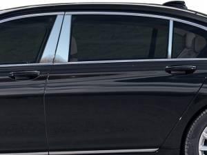 QAA - BMW 7 Series 2016-2020, 4-door, Sedan (6 piece Stainless Steel Pillar Post Trim ) PP16918 QAA