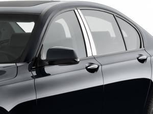 BMW 7 Series 2009-2015, 4-door, Sedan (4 piece Stainless Steel Pillar Post Trim ) PP29917 QAA
