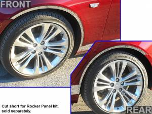 "Chrome Trim - Wheel Well/Fender Trim - QAA - Cadillac CT6 2016-2020, 4-door, Sedan (4 piece Stainless Steel Wheel Well Accent Trim 0.875"" Width, cut to fit with the Rocker kit TH56230 sold separately With 3M adhesive installation and black rubber gasket edging.) WQ56230 QAA"