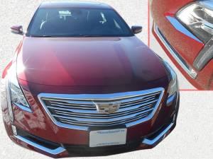Chrome Trim - Headlight Accents - QAA - Cadillac CT6 2016-2018, 4-door, Sedan (2 piece Stainless Steel Head Light Accent Trim ) HL56230 QAA