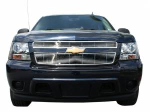 Chrome Trim - Grille Accents - QAA - Chevrolet Avalanche 2007-2009, 4-door, Pickup Truck (2 piece Billet Grille Overlay ) SGB47196 QAA