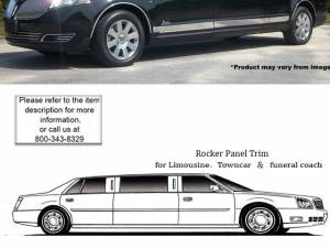 """QAA - Lincoln MKT 2010-2020, Limousine, Royale, 5-door, 80"""" Stretch (11 piece Stainless Steel Rocker Panel Trim, Upper Kit 2.81"""" - 3.25"""" Tapered Width Spans from the bottom of the molding DOWN to the specified width.) TH50678 QAA"""