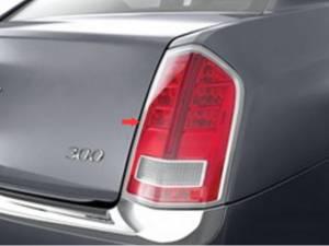 Chrome Trim - Tail Light Accents - QAA - Chrysler 300 2011-2014, 4-door, Sedan (2 piece Chrome Plated ABS plastic Tail Light Bezels ) TL51760 QAA