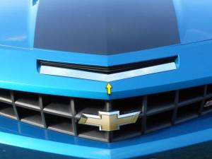 Chrome Trim - Grille Accents - QAA - Chevrolet Camaro 2010-2015, 2-door, SS Model ONLY (1 piece Stainless Steel Front Grille Accent Trim ) SG50100 QAA